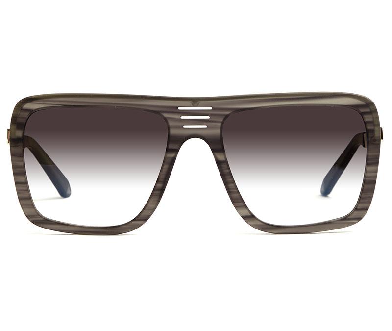 Alexis Amor Vito sunglasses in Mirror Silver Matte Grey Stripe