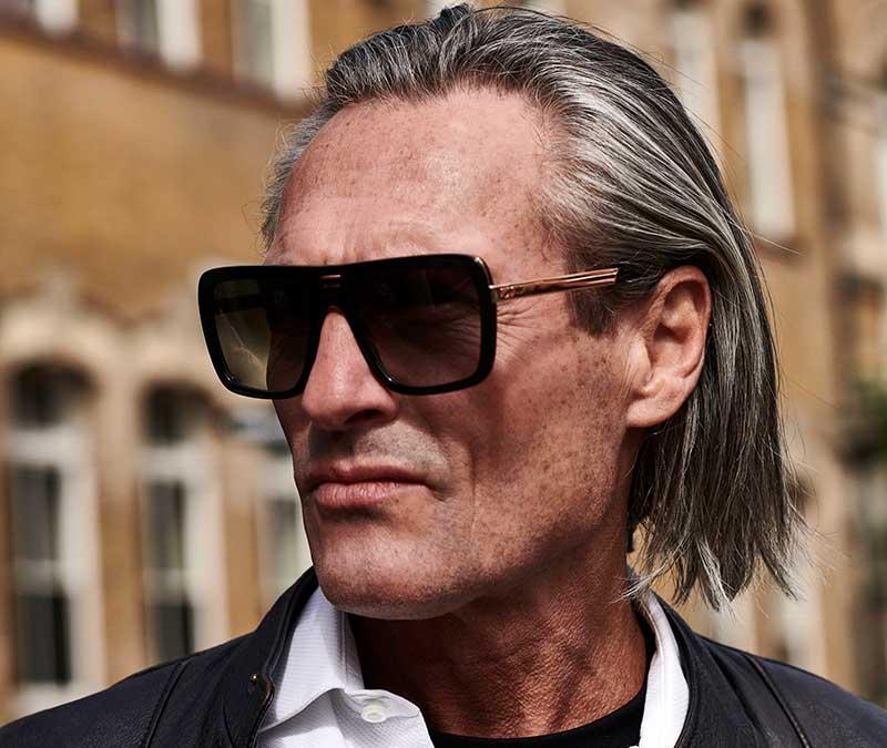 Alexis Amor Vito sunglasses in Shiny Black Matte Black